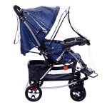 Universel Habillage Pluie Repliant Rain Cover Stroller Imperméable Wind Cover Bébé Raincover Protection Contre Vent et Pluie Transparent Couvertures Anti-UV Epaissir pour Poussette Landau de la marque FakeFace Home image 2 produit