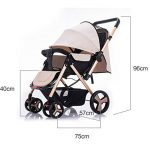 ZWL Baby Cart Light Carrying an Umbrella Baby Winter and Summer Push Can Sit Reclining Fold Child Baby Carriage de la marque ZWL image 1 produit
